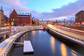 Highway to Stockholm Cityscape — Stock Photo