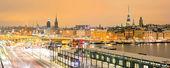 Stockholm Cityscape panorama — Stock Photo