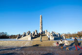 Sculptures at the Vigeland Park — Stockfoto