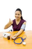 女性の血圧試験 — ストック写真