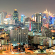 bangkok downtown in business area at night — Stock Photo