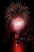 Big red firework — Stock Photo