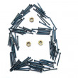 House from nails and bolts — Stock Photo