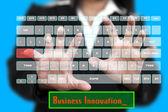 Business Innovation on Virtual Keyboard — Stock Photo