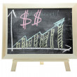 Growing dollar money graph — Stock Photo