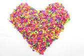 Colorful heart made from tiny stone — Stock Photo