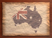 Vintage australia map on paper craft — Stock Photo