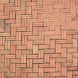 Pattern of Crossing Red Stone pavement — 图库照片