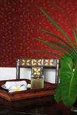 Refreshment set using in Spa Massage — Stock Photo