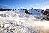 Berg cook nationaal park nieuw-zeeland vanuit helikopter — Stockfoto
