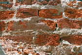 Cracking of Red Brick Wall Patter — Stock Photo