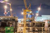 Construction site at dusk — Stock Photo