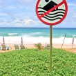 No Swimming Sign — Stockfoto
