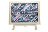 Independence day blackboard — Stock Photo