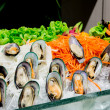 Mussel salad — Stock Photo