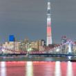 Tokyo skytree at night — Stock Photo