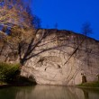 Dying lion monument in Lucern Switzerland twilight — Stock Photo
