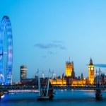 London Eye at dusk — Stock Photo #38381771