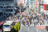 Pedestrians cross at Shibuya Tokyo — Stock Photo
