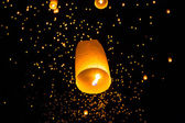 Thai Flying Sky Lantern — Stock Photo