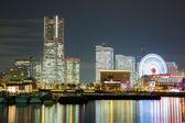 Yokohama Skyline night Japan — Stock Photo