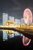 Yokohama Skyline night Japan — Stockfoto