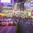 Stock Photo: Shibuycross at night