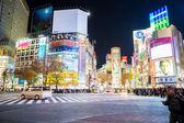 Shibuya cross at night — Stock Photo