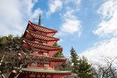 Shureito pagoda at Fuji mountain — Stock Photo