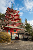 Shureito pagoda fuji mountain Japan — Stock Photo