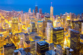 Chicago downtown at dusk — Stock Photo