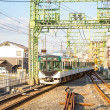 Local locomotive train at kyoto — Stockfoto