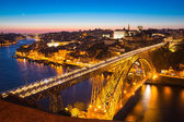 Dom Luiz bridge at dusk — Stok fotoğraf