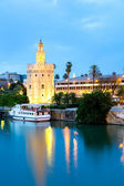 Golden Tower Seville Spain — Foto Stock