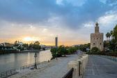 Golden Tower Seville Spain — Stock Photo
