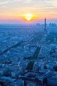 Eiffel Tower sunset — Stock Photo