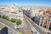 Gran Via, Madrid — Stock Photo