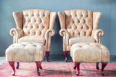Armchairs in vintage room — Foto Stock