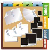 Sayı satırının arka plan iş için. vektör — Stok Vektör