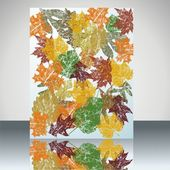 Autumn leaves background.Vector. — Stock Vector