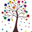 Wish tree for your design — Stok Vektör
