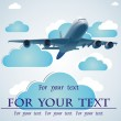 The love message in the sky by means of the plane (vector) — Stock Vector #13701576