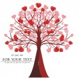 Valentine tree vector, heart. — Stockvectorbeeld