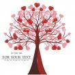 Sevgililer günü ağaç vektör, kalp — Stok Vektör
