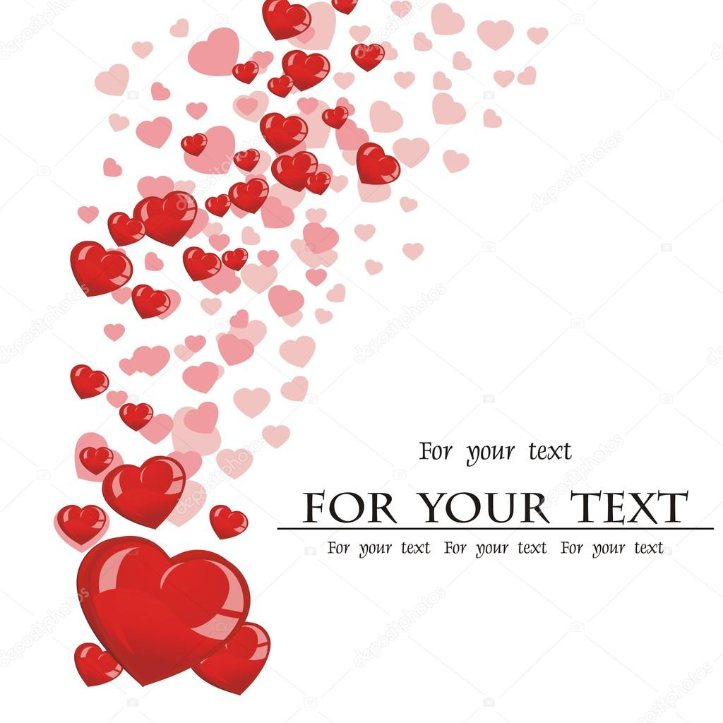 Valentines composition of the hearts. Vector illustration.  Stock Vector #15719693