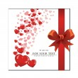 Abstract background, card, bow, heart — Stok Vektör #16242825