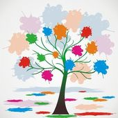 Vector illustration of tree — Stock Vector