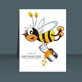 Vector bee icon. cartoon cute bright baby bee. vector illustration. — Stock Vector