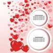 Valentines Day background with sticky in heart shape illustration — Stock Vector