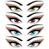 Ilustración vectorial abstracto ojo — Vector de stock